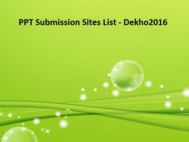 seo-ppt-submission-sites-list-place-dekho2016